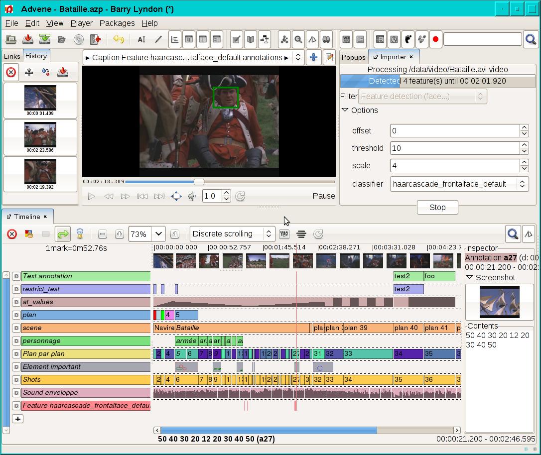 Advene for Mac OS X full screenshot